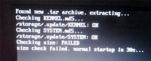 Upgrading OpenELEC to LibreELEC: check size failed error